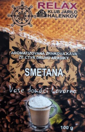 Smetana 100g - aromatizovaná zrnková káva 100% arabika